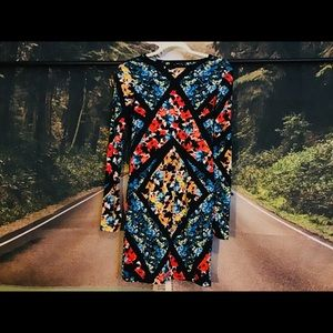 Topshop UK Geometric Dress